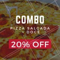 20% de desconto nesse combo? É isso mesmo, você não vai perder essa né? Peça já a sua! #combo #pizza #ahazou #pizzaria #delivery