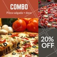 20% de desconto nesse combo? É isso mesmo, você não vai perder essa né? Peça já a seu! #combo #pizza #ahazou #pizzaria #delivery
