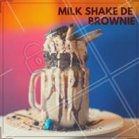 Nada melhor que o nosso Milkshake de Brownie para esse dia! Já provou? #milkshake #brownie #ahazou #hamburgueria #sobremesa