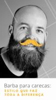 Essa combinação dá muito certo, além de oferecer uma aparência muito imponente e estilosa aos carecas! #barba #ahazou #barbearia