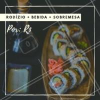 É isso mesmo, você não vai perder essa né? Peça já o seu! #combo #sushi #ahazou #sashimi #japones #delivery
