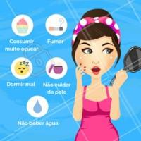 Alguns hábitos comuns que prejudicam muito a saúde da nossa pele! Quantos você tem feito? 😱 #pele #ahazou #esteticafacial #cuidadoscomapele