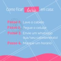 Dica boa é dica compartilhada! 😜 #cabelo #ahazou #Loiro