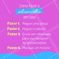 Dica boa é dica compartilhada! 😜 #sobrancelha #ahazou #designerdesobrancelha