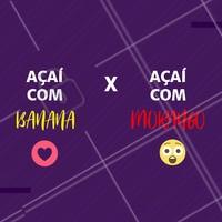 Esse duelo é difícil 😲 E aí, qual o seu favorito? 😍 #loucosporacai #ahazou #acai
