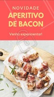 Quem é que não ama bacon? Venham provar essa novidade! #bacon #bar #ahazougastronomia #novidade