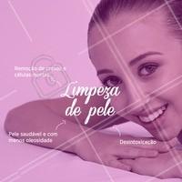 Venha desfrutar de todos os benefícios da limpeza de pele. Agenda seu horário! #limpezadepele #ahazou