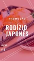 Não perca essa promoção. Aproveite! #rodiziojapones #promocao #ahazouapp #japones #japa #gastronomia