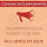 Foi ótimo estarmos juntos em 2018, agradecemos sua confiança e te esperamos para um novo encontro em 2019! Boas festas! #ahazou #2019 #encerramento #gratidao