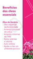 Saiba quais são os benefícios do óleo essencial de Gerânio! #terapiaalternativa #massagem #ahazou #tratamento