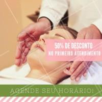 Para você, novo cliente, te damos 50% de desconto em qualquer tratamento no primeiro atendimento. Agende o seu horário! #massagem #tratamentos #ahazou #promocao
