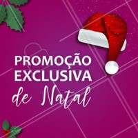 É Natal e também está rolando promoções imperdíveis por aqui! Agende seu horário. #ahazou #beleza #promocao #natal2018