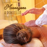Realizamos massagem no conforto da sua casa! Agenda já. #ahazou #massagem