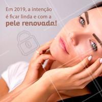 Fique linda em 2019, agenda seu horário! #pele #ahazou #esteticafacial #beleza
