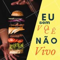 Quem aí também não consegue viver sem hambúrguer? 🍔 #hamburguer #burger #ahazougastronomia #ahazouapp #amorporhamburguer #meme