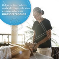 Massoterapia por AMOR! #massagem #massoterapia #ahazou #frases #alma #corpo