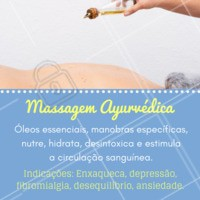 Conhece a  massagem ayurvédica? Esta técnica desintoxica o organismo e promove o equilíbrio entre corpo e mente.  #massoterapia #ahazoumassagem #massagemayurvedica