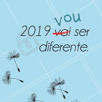 Comece um novo ciclo, se reinvente, recomece, levante, e não pare! Desejo que 2019 seja seu melhor ano!!😊 #ahazou #mudancas #vidanova