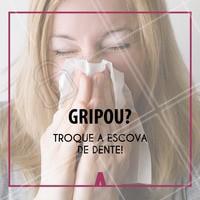 Você sabia? A escova de dentes não é autolimpante e guarda micro-organismos que podem gerar nova infecção. . Gripes, resfriados, dores de garganta, pneumonia e até dores de ouvido são infecções que exigem um cuidado especial do paciente, que nem sempre é seguido, para uma cura total. . Sempre que os sinais da doença diminuírem, é a hora de trocar a escova de dentes! #ahazou #dicas #saude #gripe