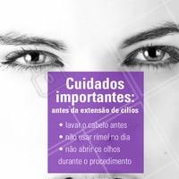 Algumas dicas para sua extensão ser perfeita! ;) #extensaodecilios #ahazou #cilios #alongamentodecilos
