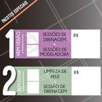 Preparamos 2 pacotes para você que ama se cuidar! Aproveite os preços especiais e ligue AGORA. #ahazou #pacotes #estetica #promocao
