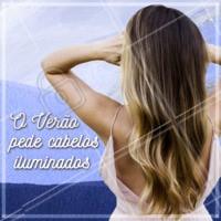 Ilumine os fios nesse Verão, você merece! ☀️ #cabelo #ahazou #mechas #loiro