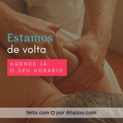 Agende já o seu horário e comece o ano bem relaxada! #massagem #massoterapia #ahazou #bemestar #relax #massoterapeuta