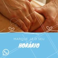 Agora estamos agendando também pelo WhatsApp. Agende já a sua massagem! #massagem #massoterapia #ahazou #massoterapeuta