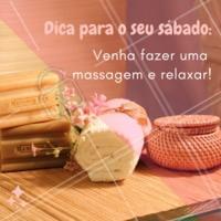 Que tal uma massagem hoje? Agende seu horário! 💆 #massagem #massoterapia #ahazou #sabado