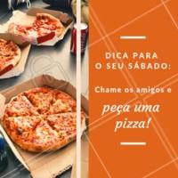 Para deixar o seu sábado ainda melhor! Experimente nossas pizzas 🍕 #pizza #pizzaria #delivery #ahazou #sabado