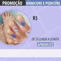 😲 OMG!  💅 Manicure  e Pedicure por R$XX,00 de segunda a quinta 👏. Aproveite!!! Liga pra gente e já reserve o seu horário. #manicure #pedicure #ahazou #nailart #promocao #nails