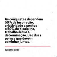 Para  te inspirar  hoje. #AugustoCury #motivacional #inspiração  #ahazou