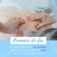 Comente aqui embaixo para ganhar uma massagem! Aproveite!#promocao #ahazou #massoterapia #massagem #bemestar