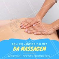 Aproveite para relaxar neste mês de Janeiro recheado de promoções! #massoterapia #massagem #ahazou #promocao #bemestar
