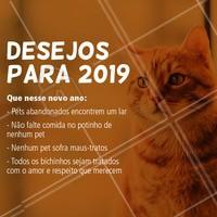 Qual os seus desejos para 2019? #pets #amorpelosanimais #ahazou #amomeupet #2019 #desejos #anonovo