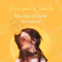 Sábado é dia de cuidar das madeixas! 💖 Agende seu horário! #cabelo #ahazou #sabado #beleza