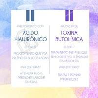 Uma das perguntas que mais respondemos é a diferença entre #acidohialuronico e a #toxinabotulinica. No quadro acima escalaremos o que é cada um e qual a sua função!  Ficou com dúvidas? Manda direct pra gente!  #procedimentosfaciais #esteticafacial #ahazou #botox #acido