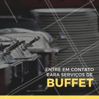 Oferecemos diversos serviços de Buffet para o seu evento. Entre em contato pelo nosso whatsapp XXXXXXX #eventos #buffet #festa #ahazou #gastronomia #serviços