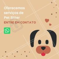 Não sabe com quem deixar seu pet? Nós cuidamos dele, com MUITO amor! 🐶🐱❤️️ Entre em contato para maiores informações XXXXXX #pet #petsitter #nanny #ahazoupet #ferias