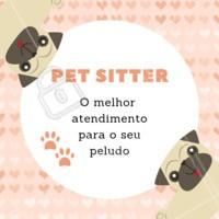 Pet Sitter é o melhor serviço para quem não sabe com quem deixar o seu pet, e quer deixá-lo o mais confortável possível 🐶🐱❤️️ Entre em contato para maiores informações XXXXXX #pet #petsitter #nanny #ahazoupet #ferias