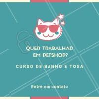 Entre em contato para maiores informações atráves do whatsapp XXXXXXX #curso #banhoetosa #ahazou #petshop