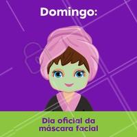Quem não ama? Domingo é dia de escolher aquela máscara, relaxar e colocar um filme! 🙇♀️❤️️ #mascarafacial #ahazou #domingo #esteticafacial