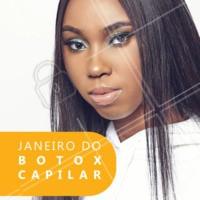 Janeiro é mês de RENOVAÇÃO!! Venha renovar seus cabelos 😍 #cabelo #ahazou #botox #janeiro