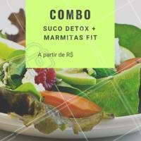 O verão já chegou e você ainda não começou a sua dieta? Aproveite esse combo especial e comece AGORA! #sucosdetox #marmitasfit #ahazou #verao #projetoverao #comidasaudavel