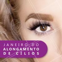 Janeiro é mês de RENOVAÇÃO!! Venha renovar seus cílios 😍 #cilios #ahazou #janeiro #extensaodecilios