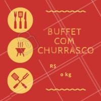 Aproveite o nosso buffet com diversas opções de saladas, e pratos quentes + o nosso exclusivo e delicioso churrasco feito na hora! #buffet #selfservice #churrasco #ahazou #restaurantes
