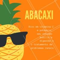 Fique de olho nos benefícios dessa fruta! 🍍 #abacaxi #frutas #beneficios #ahazou #saude #bemestar