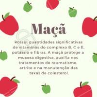 Fique de olho nos benefícios dessa fruta! 🍎 #maca #frutas #beneficios #ahazou #saude #bemestar
