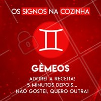 Hahaha quem concorda marca o seu geminiano(a) favorito aqui! ♊ #signos #cook #ahazou #astrologia #gemeos
