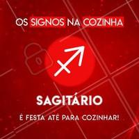 Hahaha quem concorda marca o seu sagitariano(a) favorito aqui! ♐ #signos #cook #ahazou #astrologia #sagitario